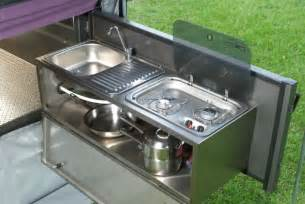 Camper Trailer Kitchen Designs by Folding Off Road Camper Trailer With Campering Tents And