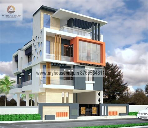 modern house structure design modern elevation design of residential buildings front elevation design house map