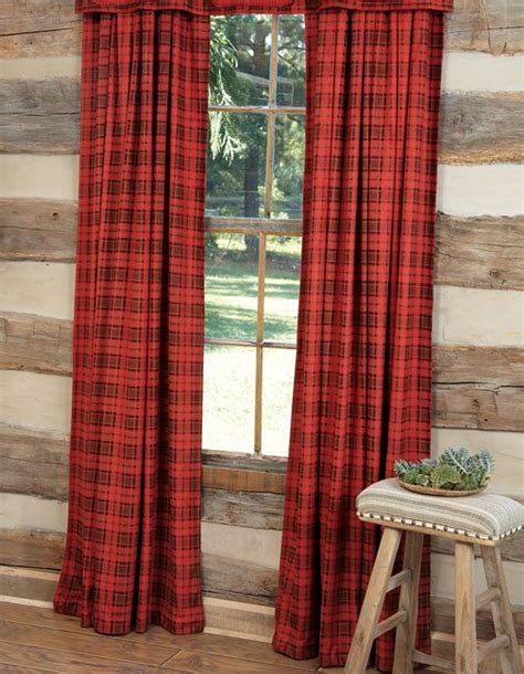 plaid drapes red black buffalo plaid curtains dream cottage pinterest