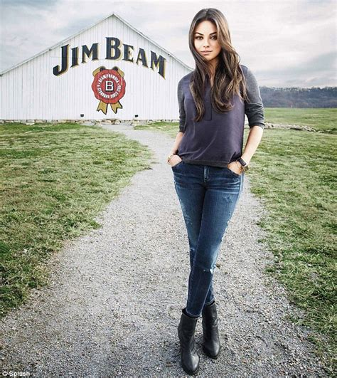 ky commercial actress mila kunis visits distillery to meet jim beam s great