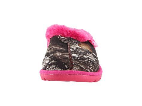 pink mossy oak slippers m f western fleece slide slippers mossy oak pink