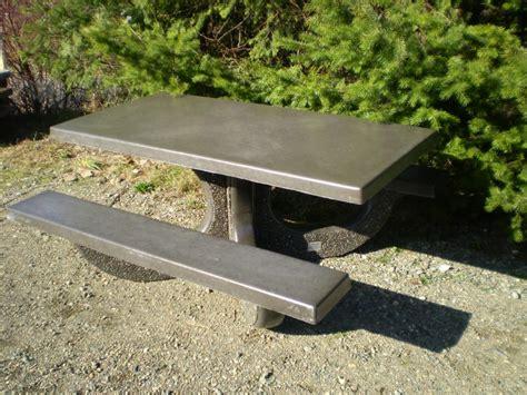 concrete picnic tables garden home ideas collection
