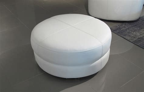 round white leather ottoman ottomans base pure white round leather ottoman sofa sofa