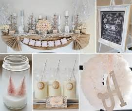 Rustic shabby winter wonderland party as seen on kara s party ideas