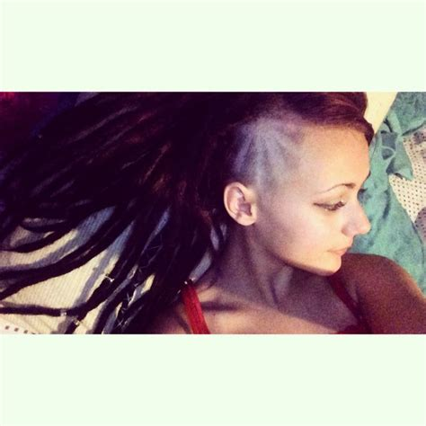 dread locks with shaved side 244 best images about dread mohawk sidecut undercut on