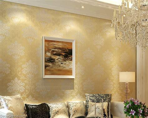 gold wallpaper living room living room 3d flower wallpaper gold seasonal decoration bedroom wall sticker dgwp003dk