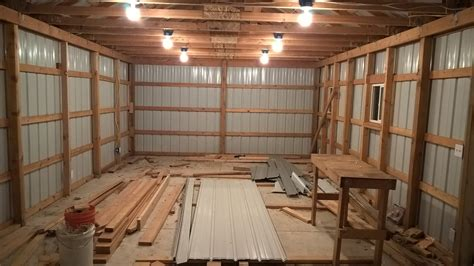 building  pole barn shed  scratch p planning pole