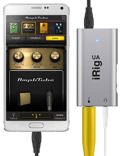 irig for android ik multimedia irig ua guitar interface for android mcquade musical instruments