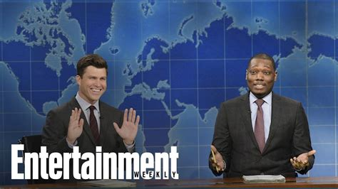 michael che emmys youtube snl stars colin jost michael che to host 2018 emmys