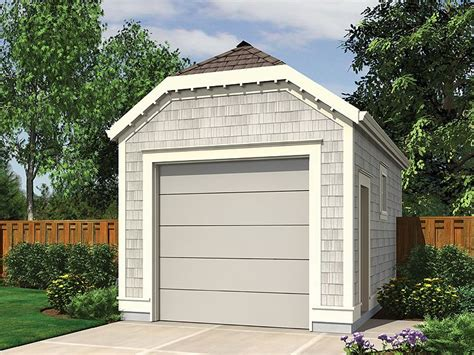 one car garage plans 1 car garage plans one car garage plan with clipped