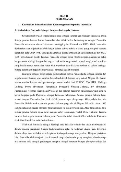 Ketatanegaraan Indonesia pancasila dalam konteks ketatanegaraan republik indonesia