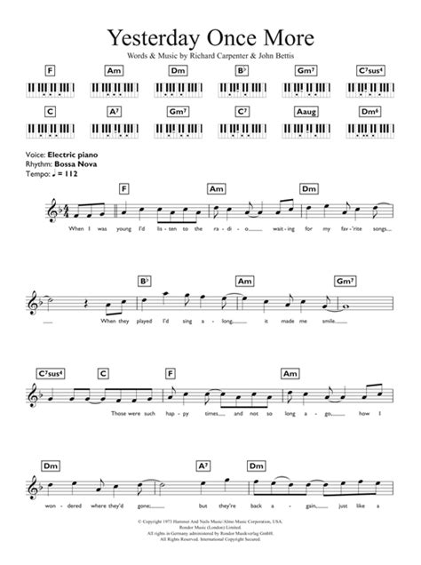 carpenters for ukulele books piano yesterday piano chords yesterday piano at