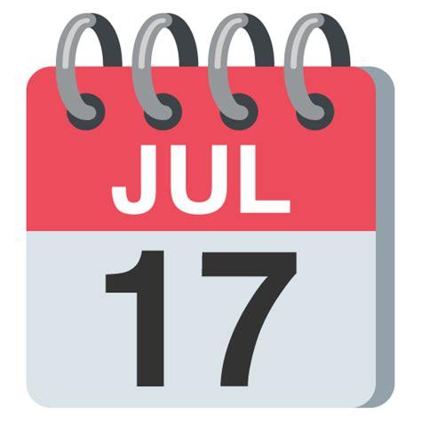 Calendar Emoji Emoji Day July 17