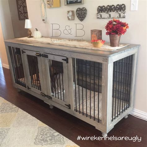 diy dog crate table bb kustom kennels ps gray and room