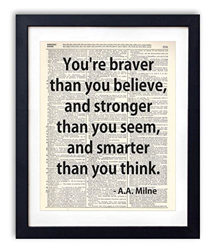 typography dictionary you re braver than you believe typography upcycled vintage dictionary print 8x10 buy
