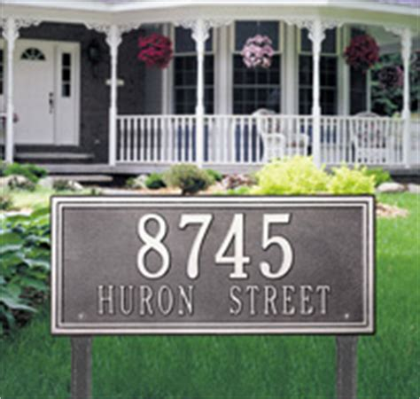 Address Plaques For Front Yard - custom yard signs