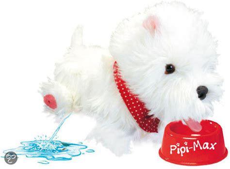 speelgoed hond die loopt en blaft bol hondje pipi max wit speelgoed