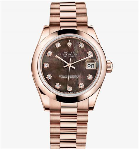 Rolex Datejust Combi Gold For swiss rolex fakes datejust 31 18 ct everose gold m178245f 0015 241 00 replica