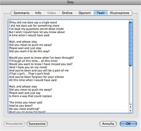 on testo visualizzare il testo di una canzone su iphone con