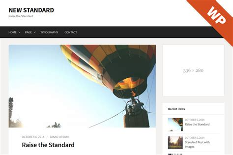 new standard wordpress theme wordpress blog themes on