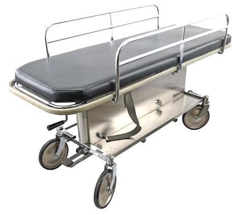 gurney bed tabbert midmark 1400 74 quot hydraulic hospital transport bed