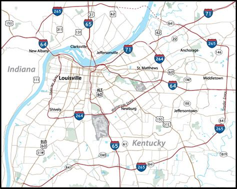 map of louisville ky louisville aaroads