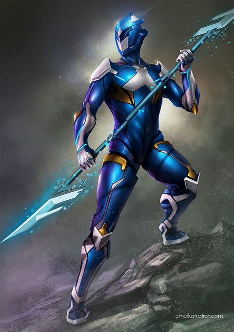 painting power rangers power ranger blue redesing by aioras on deviantart
