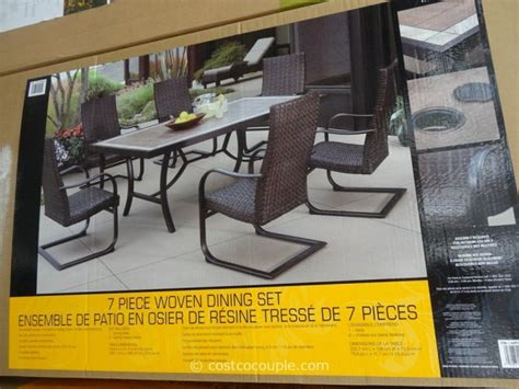 agio patio furniture costco agio international 7 fairview woven dining set