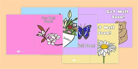 get well soon card template get well soon card templates get well soon card templates
