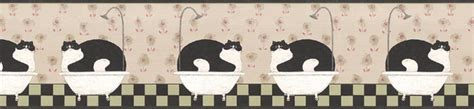 cat wallpaper border warren kimble bathroom fat cat wallpaper border ap75656 ebay