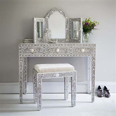 mother of pearl desk classic mother of pearl dressing in steeple grey