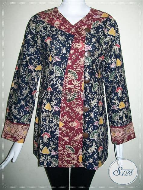 Baju Batik Terkini baju wanita batik terkini model baju batik dua warna bls566cl xl toko batik 2018