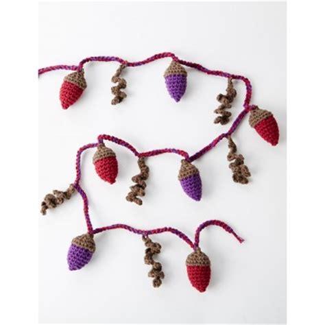 acorns to crochet free patterns grandmother s pattern book autumn acorns garland free crochet pattern crochet kingdom