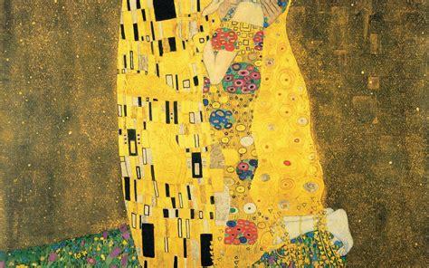 kiss klimt wallpaper wallpapersafari
