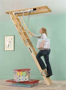 louisville ladder l224p 250 pound duty rating wooden attic ladder fits 8 foot 9 inch to 10 foot
