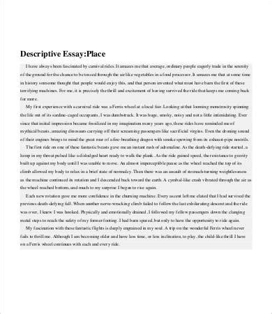 descriptive essay exles exle of a illustration
