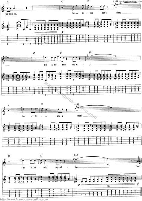 guitar tutorial nirvana pennyroyal tea by nirvana 3 free guitar sheet music tabs