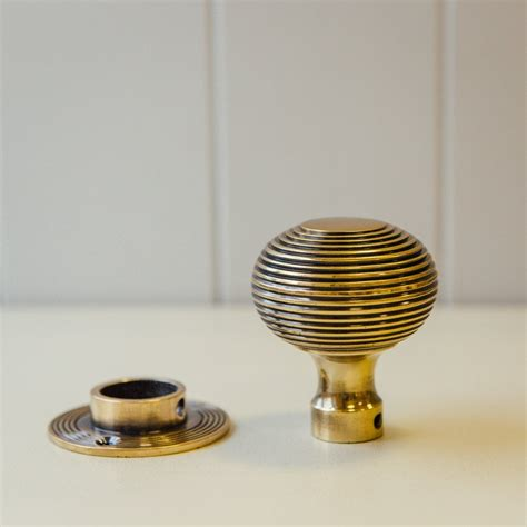 Aged Brass Door Knobs by Beehive Door Knobs In Aged Brass Grace Home