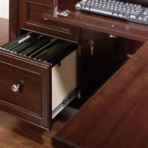 Office Desk With Lockable Drawers Sauder Palladia Executive Desk Reviews Wayfair