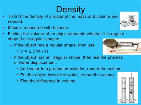 Density Of L by Properties Of Matter Physical And Chemical Properties Ppt