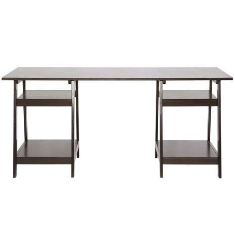 modern desk legs modern desk with sawhorse legs in desks and hutches
