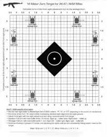printable zero targets for m4 50 yard zero target printable newhairstylesformen2014 com