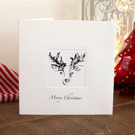 Handmade Reindeer Cards - five handmade reindeer cards by eggs