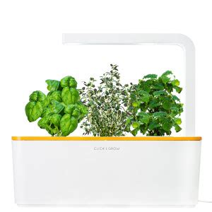 click and grow amazon click and grow shgs1 smart herb garden white amazon co