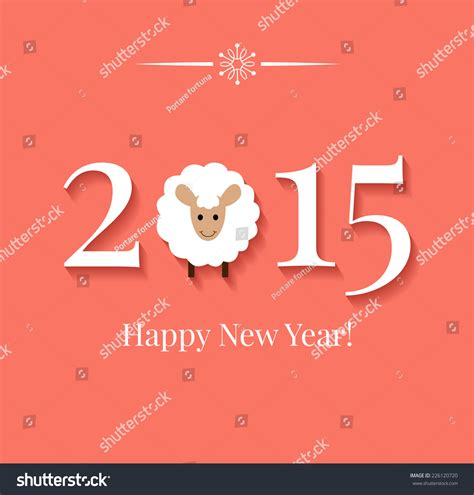 chinese zodiac 2015 year sheep or stock vector 226120720