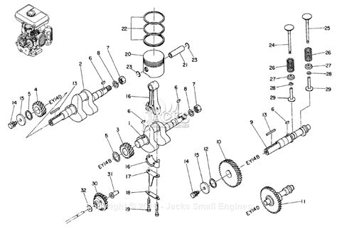 crankshaft parts diagram robin subaru ey14 parts diagram for crankshaft camshaft piston
