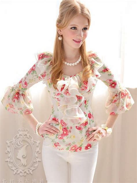 Lulabi Top Blouse Atasan Wolfis Fit L summer floral print flounced sleeve blouse