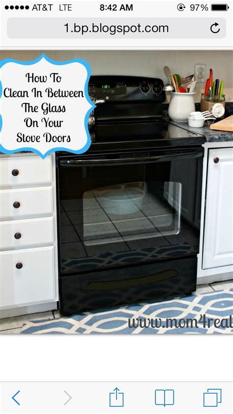 37 ways to deep clean the kitchen trusper quot how to clean between the glass on your stove quot trusper