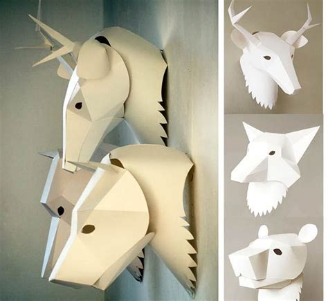 3d Crafts With Paper - 51 best images about paper masks on deer