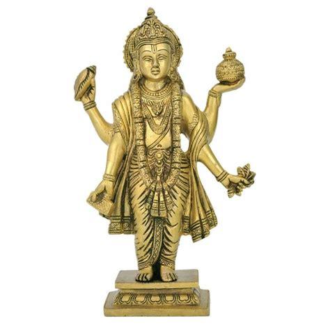 statues of gods brass statue of god dhanvantari